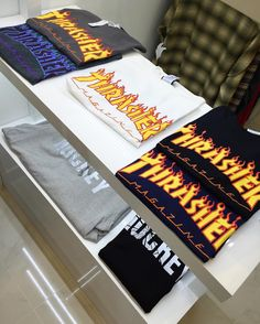 Thrasher Flame Tee in 5 new colorways! @8five2shop www.8five2.com @thrashermag Retail at HKD240
