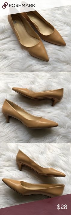 67906efd07 I just added this listing on Poshmark: Nine West Nude Leather Pointed Kitten  Heels.