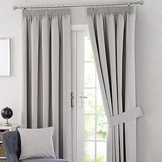 Excellent collection of ready made pencil pleat curtains perfect for all rooms in your home. Fully lined pencil pleat curtains and blackout pencil pleat curtains, all available from Dunelm. Curtains Dunelm, Navy Curtains, Types Of Curtains, Pleated Curtains, Kids Curtains, Cool Curtains, Lined Curtains, Bedroom Curtains, Ideas