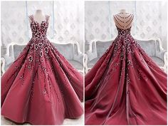 Prom Gown,Prom Dresses,Burgundy Evening Gowns,Party Dresses,Burgundy Evening Gowns,Ball Gown Formal Dress,Evening Gowns For Teens