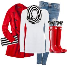 """Hunter Rain Boots"" by karrina-renee-krueger on Polyvore"