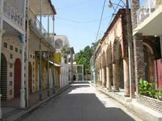The town of Jacmel Haiti. Reminds me of French Quarter NOLA