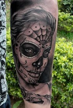 Dia de los muertos - Tattoos and Tattoo Designs.  I love this one with Angelina's face.