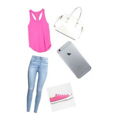 Day at the mall with friends by lraspudic on Polyvore featuring polyvore, fashion, style, Victoria's Secret PINK, H&M, Converse and Kate Spade