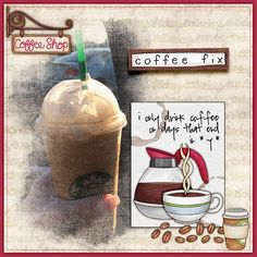 Fun digital scrapbook page created with 'Coffee & Cupcakes' digital scrapbooking kit by Kate Hadfield Designs   ideas for scrapbook pages   layout by Creative Team member Christa. Click for more scrapbook pages created with this kit!