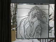 Horse in clear by Wendy's Stained Glass https://www.facebook.com/WendysStainedGlass