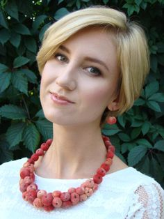 Set Paradise apples necklace and earrings. Made to von Plavalaguna1, $100.00
