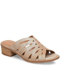 Comfortiva Breah Metallic Leather Block Heel Slides | Dillard's - #metallicleather - Comfortiva Breah Metallic Leather Block Heel Slides | Dillard's... Leather Espadrilles, Leather Ballet Flats, Leather Wedges, Leather Pumps, Leather Slip Ons, Block Heel Loafers, Heeled Loafers, Black Pumps Heels, Jimmy Choo Shoes