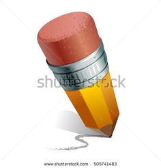 Vector illustration of detailed pencil isolated on white background