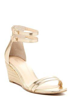 Gold Wedge Sandal