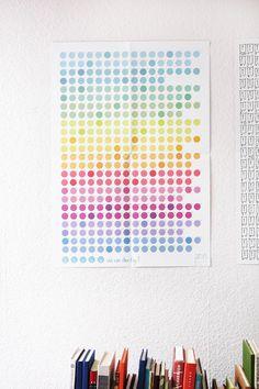 *Kalender trifft Tagebuch*    +365 farbenfrohe Punkte warten darauf, von dir als Smileys zum Leben erweckt zu werden.+    Pinn ihn dir an eine Wand, v