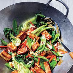 Veggie and Tofu Stir-Fry | MyRecipes.com #myplate #protein #vegetables