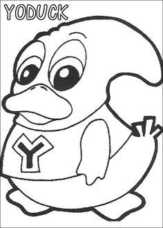 Yokomon Fargelegging for barn. Tegninger for utskrift og fargelegging nº 6