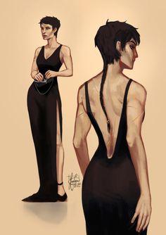 "kurogoesinthedas: ""I put Cassandra in a dress (now I run for my life) "" @demonforni"