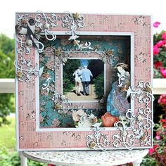 Nostalgic Shadow Box - Designed using the beautiful Bird Song collection from Graphic 45.  The flourishes are from The Dusty Attic.
