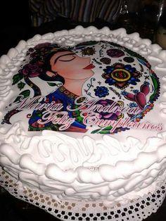 Torta de Vainilla con Merengue e Impresión en papel de Arroz