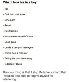 Yeah I ship Bellarke more than I love Bellamy lol