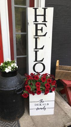 Welcome Signs Front Door, Wooden Welcome Signs, Front Porch Signs, Diy Wood Signs, Front Door Decor, Wooden Signs For Home, Fromt Porch Decor, Homemade Wood Signs, Welcome Decor