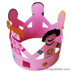 "Crown of Friends craft.  This is a craft that can be used with any Kinder ""Friendship"" unit."