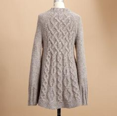 More Sundance Sweaters...this one is the back of the Branching Cables Cardi.