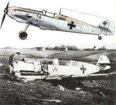 Messerschmitt Bf 109E3 2.JG21 Black 14 shot down by flak De Klomp Holland 10th May 1940