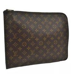 7f191364610b Louis Vuitton Business Document Large A4 Portfolio Monogram Clutch on Sale