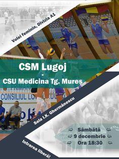 La finalul săptămânii, în etapa a noua a campionatului primei ligi la volei feminin, echipa Lugojului își invită suporterii la Sala Sporturilor, pentru un meci în compania uneia din echipele rivale…