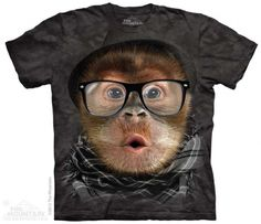 Hipster Orangutan Baby T-Shirt at theBIGzoo.com, an animal-themed store established in August 2000.