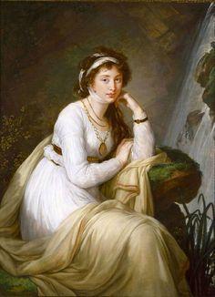 The Athenaeum - Portrait of Anna Ivanovna Tolstoy (Baryatinskaya) Élisabeth Vigée-Lebrun - circa 1795-1801 Painting - oil on canvas