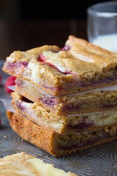 Brown Butter Raspberry Swirl Cheesecake Blondies   sweetpeasandsaffron.com @sweetpeasaffron