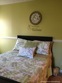 soft greens for guest bedroom