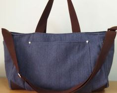 Gray Shoulder bag/Messenger bag/Diaper bag/Tote от litacraft