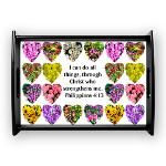 PHILIPPIANS 4:13 Large Serving Tray http://www.cafepress.com/heavenlyblessings/12256733 #Philippians 413 #LettertoPhilippians #Philippians4quote #Philippians4gift  #Scripturefabric #Biblefabric