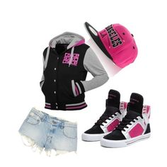 hip hop clothes for girls kids Chill Outfits, Hipster Outfits, Dope Outfits, Swag Outfits, Sport Outfits, Hip Hop Outfit Girl, Hip Hop Dance Outfits, Hip Hop Girl, Hiphop