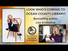Bestselling author Lisa Scottoline is coming to the Toms River Branch of the Ocean County Library at 2 p. Additional event information c. Lisa Scottoline, Friends Of The Library, Library Work, County Library, Bestselling Author, Meet, Ocean, Education, Videos