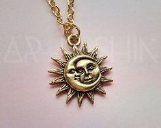 Collar el sol y Luna por lotusfairy en Etsy