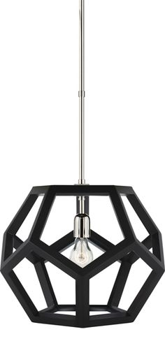 SMALL DUSTIN DODECAHEDRON WOOD PENDANT by Ralph Lauren for Circa Lighting