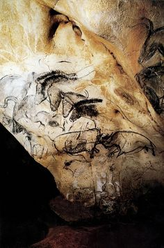 A Gallery of Cave Paintings from the Chauvet Cave as part of the Bradshaw Foundation France Rock Art Archive. The Chauvet Cave is one of the most famous prehistoric rock art sites in the world. Chauvet Cave, Lascaux, Land Art, Tempera, Fresco, Art Rupestre, Werner Herzog, Art Antique, Painted Rocks Kids