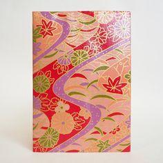 Japanese Yuzen Washi Card Holder - Chrysanthemum & Maple Leaves Red Japanese Minimalism, Oyster Card, Travel Cards, Maple Leaves, Japanese Patterns, Unique Cards, Chrysanthemum, Japanese Culture, Card Holders