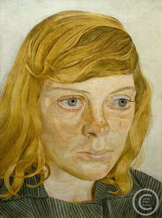 """Lucian Freud """"Girl in a Green Dress"""" 1954 Oil on Canvas - Dotti Ten Broek Lucian Freud Portraits, Lucian Freud Paintings, Sigmund Freud, Famous Artists, British Artists, Portrait Art, Portrait Paintings, Artist Art, Painting Inspiration"""