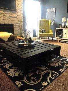 Chic Black #Pallet #Coffee Table: DIY Tutorial | 99 Pallets