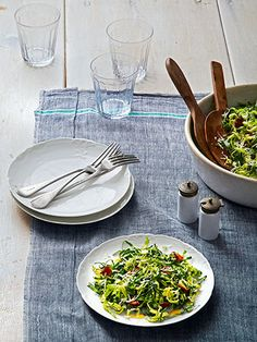 Thanksgiving Recipes - Southern Thanksgiving Recipes - Woman's Day-- Collard & Brussels-Sprout Salad