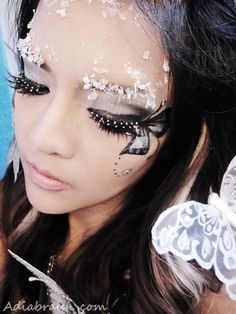 Glitter & ice snow Butterfly Fairy Makeup | Adia's Blog
