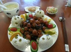 Cute panda plate in the dining room - Picture of Panda Inn ...