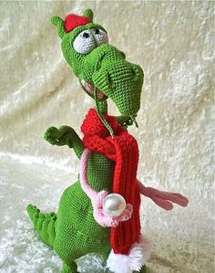 Crochet Dragon doll He can hold a ring by LittleOwlsHut on Etsy - via http://bit.ly/epinner
