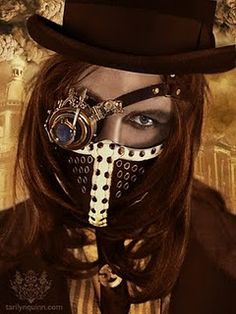 I have seen this picture before! I love the mask! Makes me think of someone working in a coal room...