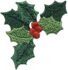 Holly - machine embroidery design