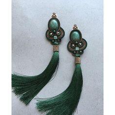 Photo from keytstone Soutache Pendant, Soutache Earrings, Bead Earrings, Statement Earrings, Artisan Jewelry, Handcrafted Jewelry, Earrings Handmade, Moon Jewelry, Beaded Jewelry