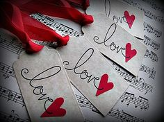 Items similar to Love Gift Tags, A Set of 4 on Etsy