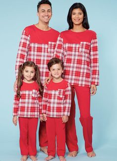 c75cf6f299 Learn to Sew for Fun family sleepwear sewing pattern from McCall s. M7700  Men s Misses